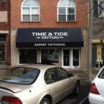 Awnings - Time & Tide Tattoo in Bloomington, Indiana