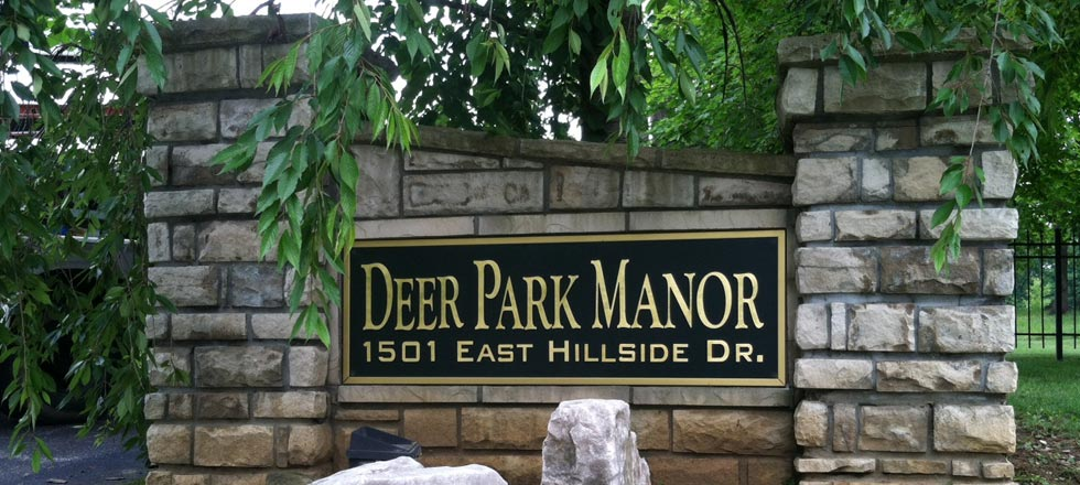 Deer Park Manor Sign by Delphi Signs