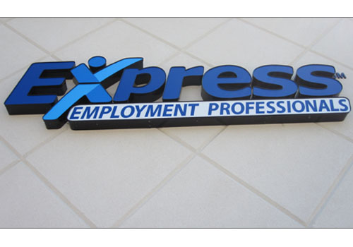 Channel Lettering Signs - Express Employment Services in Bloomington, Indiana