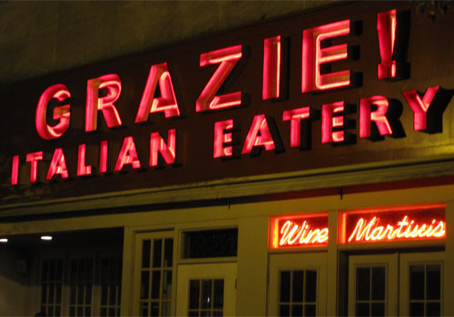 Channel Lettering Signs - Grazie Italian Eatery in Bloomington, Indiana