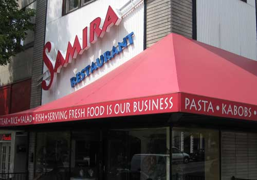 Channel Lettering Signs - Samira Restaurant in Bloomington, Indiana