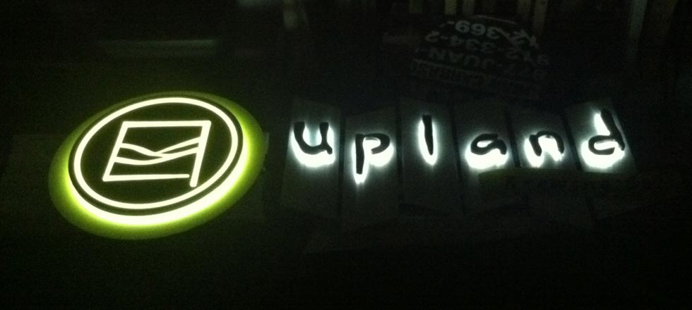 Upland Brewery Backlit Sign by Delphi Signs