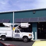 Awnings - Solar Powered at World Wide Automotive in Bloomington, Indiana